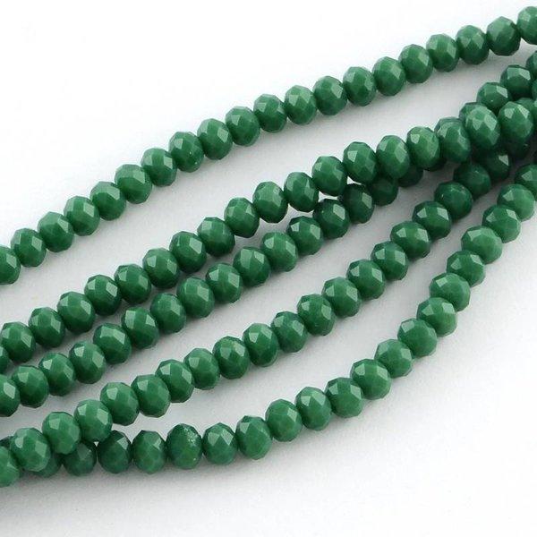 40 pcs Faceted Bead Dark Green 4x3mm