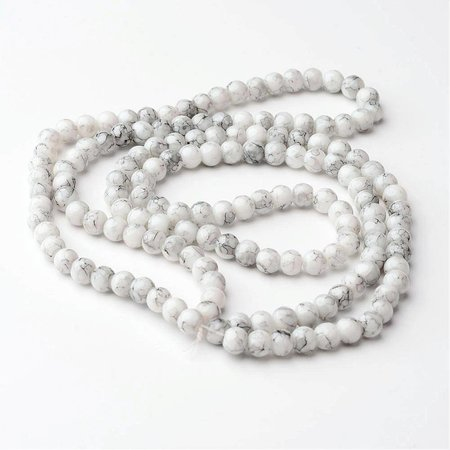 Marble Look Glassbeads 4mm, 100 pieces