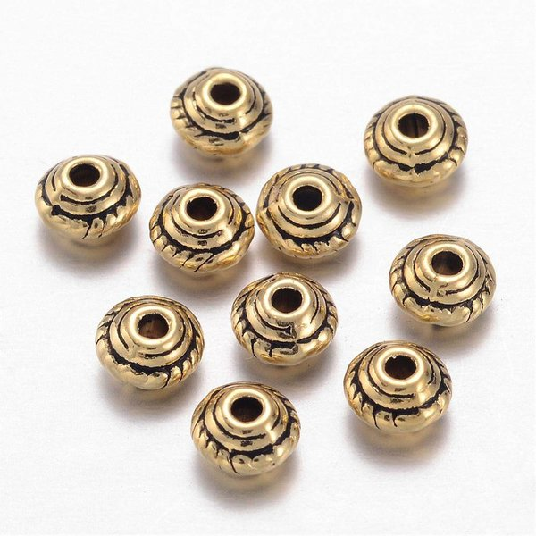 15 pcs Bicone Spacer Gold 5x3mm