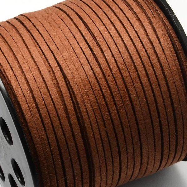 Faux Suede Cord Brown 3mm, 3 meter