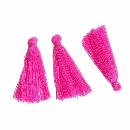Tassel Fuchsia Pink 30mm, 5 pieces