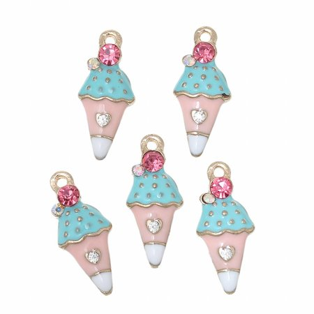 Ice Cream Charm with strass 23x20mm