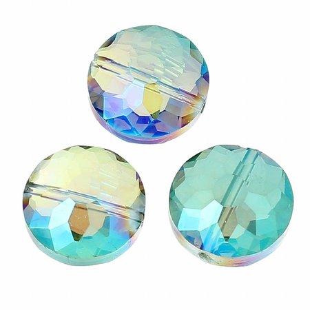 Luxe Facetkralen Zeemeermin Shine 14mm, 5 stuks