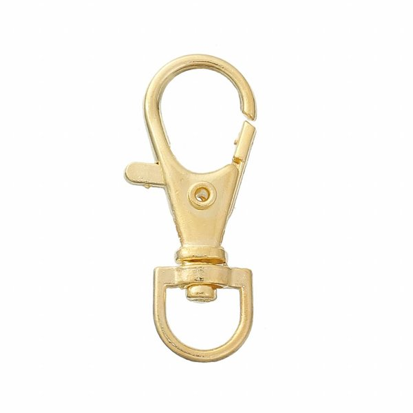 Keychain Gold 41x14mm, 5 pieces