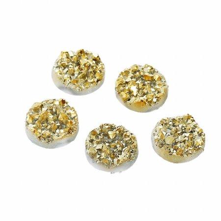 Druzy Glitter Cabochon Gold 12mm