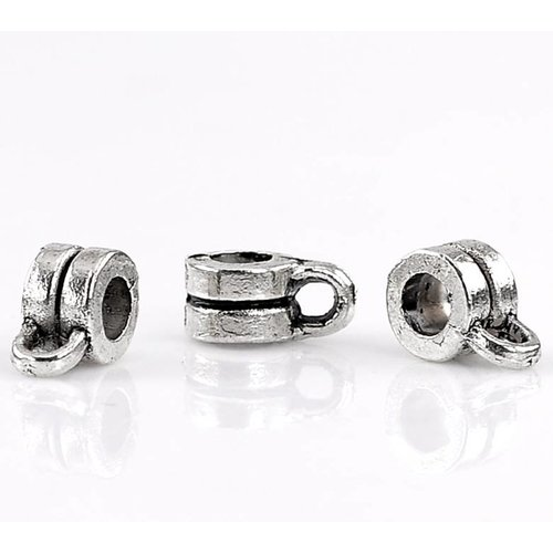 Bailbead Silver 9x6mm for 3mm, 10 pieces