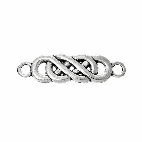 Tussenzetsel Infinity Twist Zilver 22x6mm