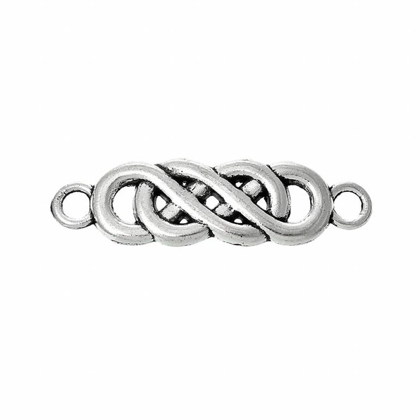 Spacer Infinity Twist Silver 22x6mm