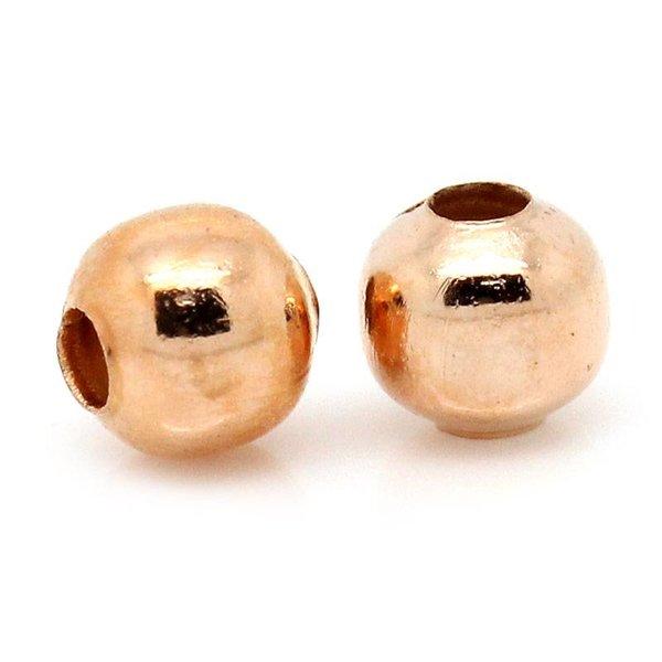 Spacer Beads Rose Goud 4mm, 100 stuks