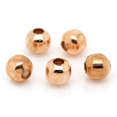 100 pcs Spacer Beads Rose Gold 4mm