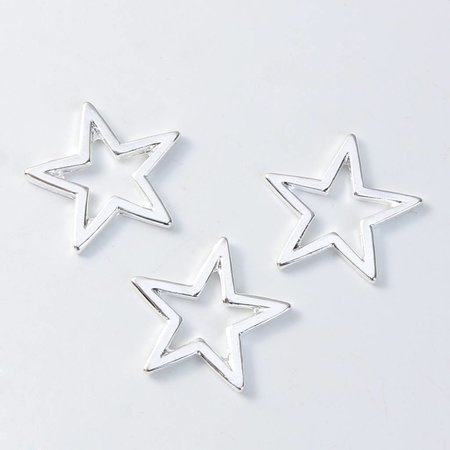 Spacer Star Silver 17mm