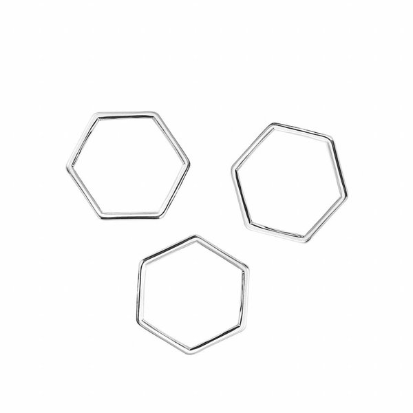 Honeycomb Spacer Silver 11x10mm