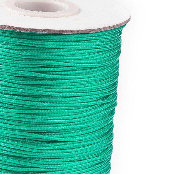Waxed Cord Sea Green 1mm, 3 meter