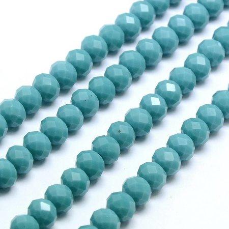 10 pcs Facet Bead Turquoise 8x6mm