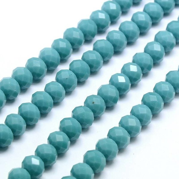 Facet Bead Turquoise 8x6mm, 10 pieces