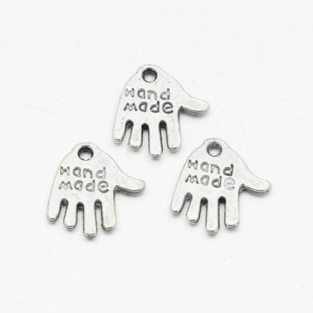 Silver Charm Handmade 12mm, 8 pieces