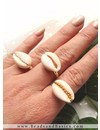Adjustable Ring Gold 17mm, 4 pieces