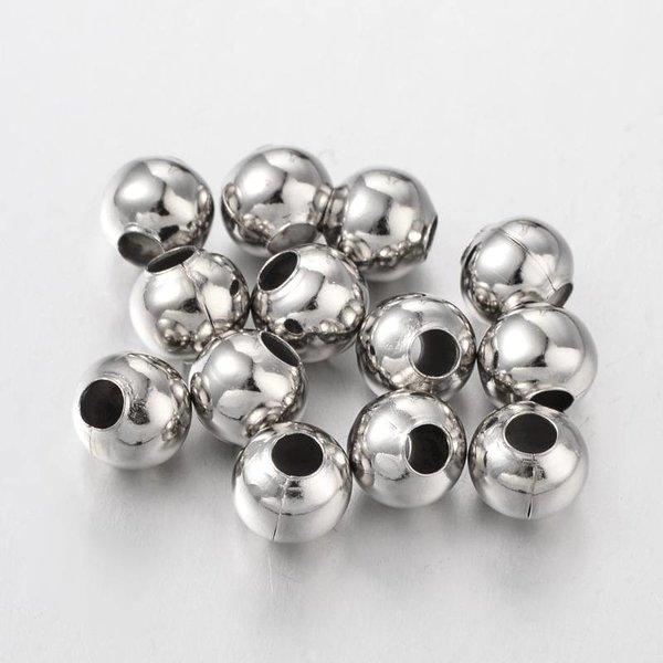 20 Stuks Zilveren Spacer Beads 8mm