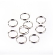 Double Loop Ring Silver 6mm, 50 pieces