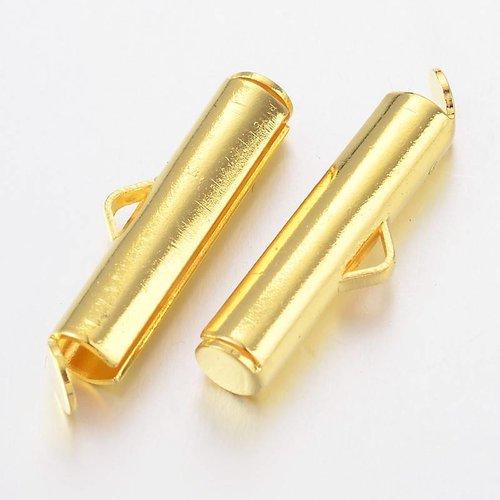 End Cap for Weave Bracelet Gold 20mm, 6 pieces