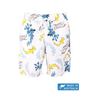 Terry Rich Australia Board Short (Father-Son) Shark in White