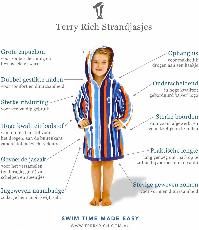 11 handige kenmerken Terry Rich strandjasjes