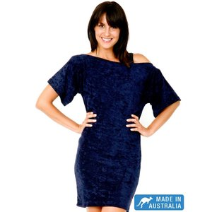 Terry Rich Australia Navy Terry Beach Cover Up