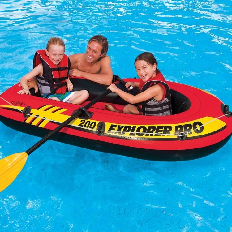 надувная лодка intex 58357 explorer 200 set