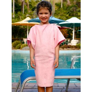 Terry Rich Australia Pink Terry Beach Cover Up for girls