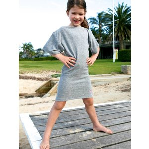 Terry Rich Australia Grey Terry Beach Cover Up for girls