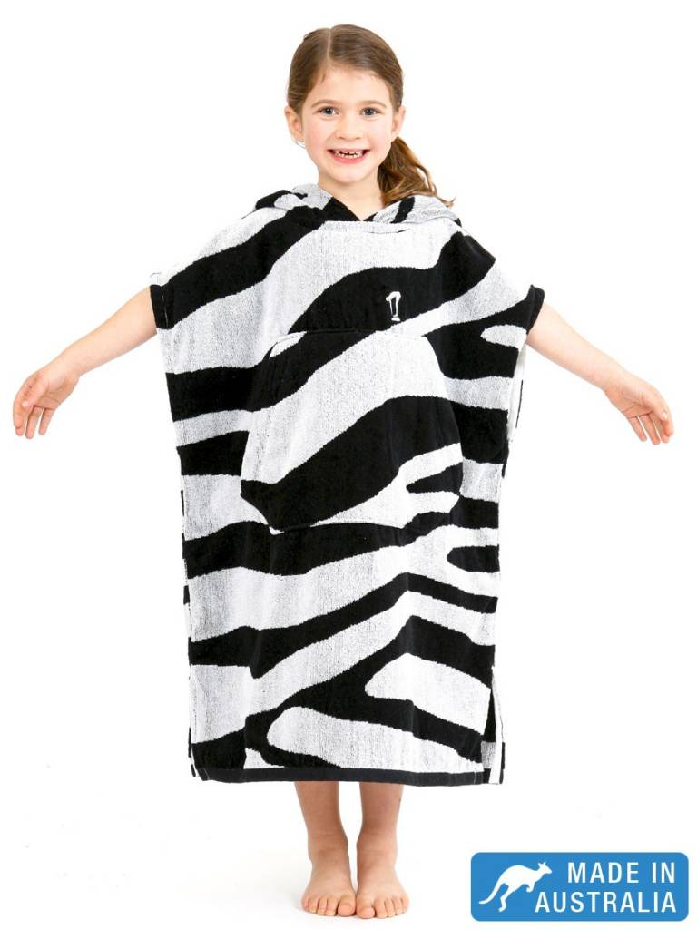 9c508b8940 Terry Rich Australia Kids Surf Poncho - Changing Robe U0027Zebrau0027 Sc 1  St Destination Beach