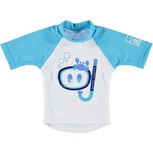 Sonpakkie UV Zwem shirt Ocean Hunter Azuur Blauw - Wit
