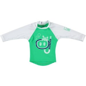 Sonpakkie UV Swim Shirt 'Ocean Hunter' (Green & White)