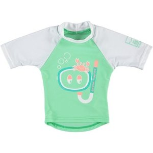 Sonpakkie UV Swim Shirt 'Ocean Hunter' (Green & White/Pink)