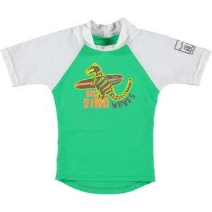 Sonpakkie UV Swim Shirt 'Cute Flower' (green & white)