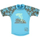 Sonpakkie UV Swim Shirt 'Jump the Beach' (azure & kaki)