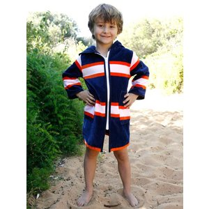 Terry Rich Australia Kinderbadjas - strandjas Luxe Sport
