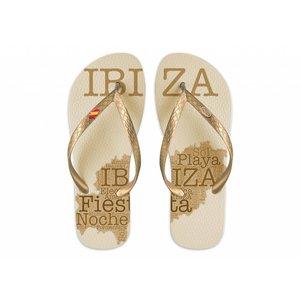 Ibiza Island Flip-Flop Ibiza Island Gold-Gold