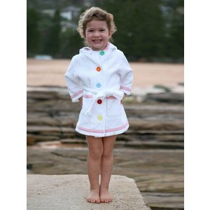Terry Rich Australia Spa - Pool Robe Pink Trim