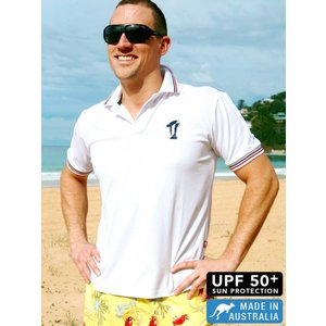Terry Rich Australia UV Polo Short sleeve white
