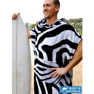 Terry Rich Australia Surf Poncho - Changing Robe 'Zebra'