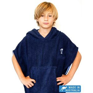 Terry Rich Australia Kids Surf Poncho - Changing Robe 'Navy'