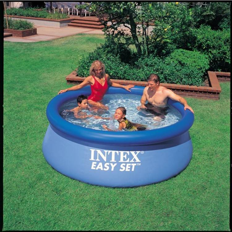 Intex easy set pool 244 x 76cm destination beach for Obi easy pool