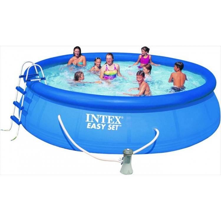 intex easy set pool 457 x 107cm destination beach. Black Bedroom Furniture Sets. Home Design Ideas