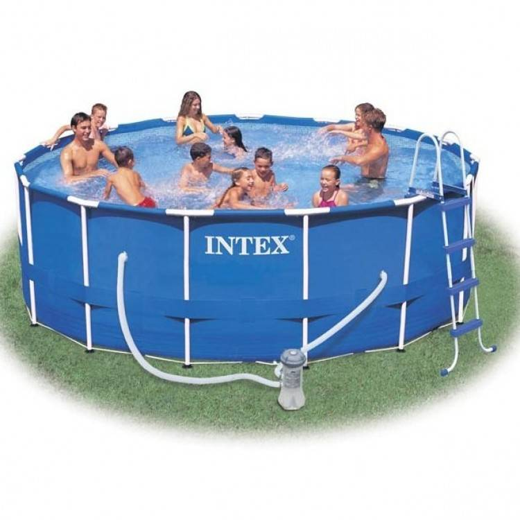 Old Fashioned Intex Metal Frame Swimming Pools Image - Framed Art ...