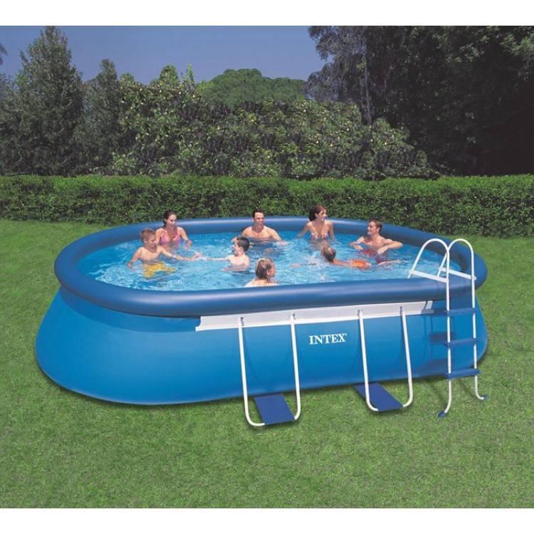 intex frame pool 549 x 305 x 107 cm destination beach. Black Bedroom Furniture Sets. Home Design Ideas