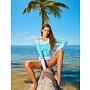 Cabana Life UV Shirt Aqua Stripe