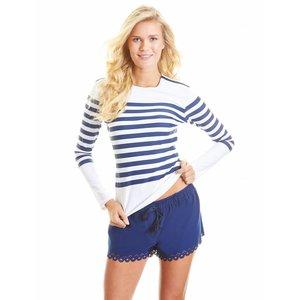 Cabana Life UV Shirt Navy Stripe