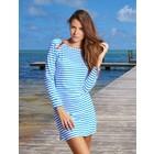 Cabana Life UV Jurk Blue Stripe