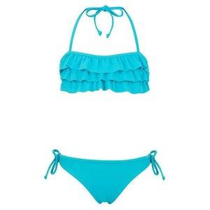 Snapper Rock Bikini Aqua Ruffle